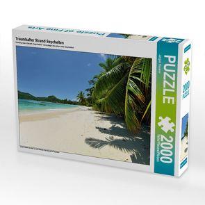 CALVENDO Puzzle Traumhafter Strand Seychellen 2000 Teile Lege-Größe 90 x 67 cm Foto-Puzzle Bild von Jürgen Feuerer