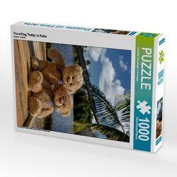 CALVENDO Puzzle Travelling Teddy in Kuba 1000 Teile Lege-Größe 48 x 64 cm Foto-Puzzle Bild von Christian Kneidinger C-K-Images von Kneidinger C-K-Images,  Christian