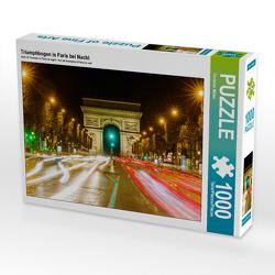 CALVENDO Puzzle Triumphbogen in Paris bei Nacht 1000 Teile Lege-Größe 64 x 48 cm Foto-Puzzle Bild von Christian Müller