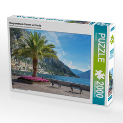 CALVENDO Puzzle Uferpromenade Limone sul Garda 2000 Teile Lege-Größe 90 x 67 cm Foto-Puzzle Bild von SusaZoom