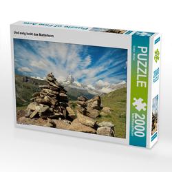 CALVENDO Puzzle Und ewig lockt das Matterhorn 2000 Teile Lege-Größe 90 x 67 cm Foto-Puzzle Bild von Susan Michel