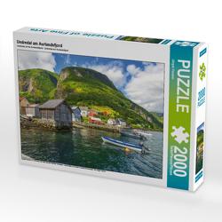 CALVENDO Puzzle Undredal am Aurlandsfjord 2000 Teile Lege-Größe 90 x 67 cm Foto-Puzzle Bild von Jürgen Feuerer