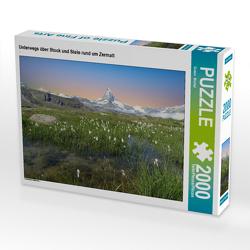 CALVENDO Puzzle Unterwegs über Stock und Stein rund um Zermatt 2000 Teile Lege-Größe 90 x 67 cm Foto-Puzzle Bild von Susan Michel