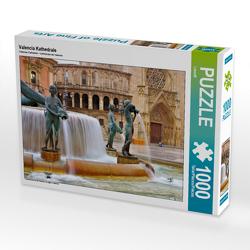 CALVENDO Puzzle Valencia Kathedrale 1000 Teile Lege-Größe 64 x 48 cm Foto-Puzzle Bild von LianeM