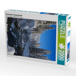 CALVENDO Puzzle Verschneite Flusslandschaft 2000 Teile Lege-Größe 67 x 90 cm Foto-Puzzle Bild von SusaZoom