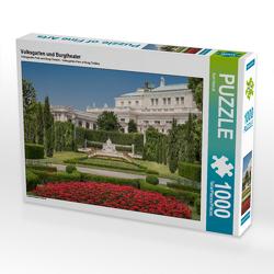 CALVENDO Puzzle Volksgarten und Burgtheater 1000 Teile Lege-Größe 64 x 48 cm Foto-Puzzle Bild von Karl Heindl