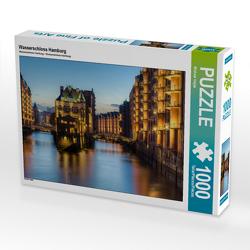 CALVENDO Puzzle Wasserschloss Hamburg 1000 Teile Lege-Größe 64 x 48 cm Foto-Puzzle Bild von Michael Valjak