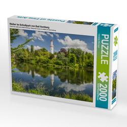 CALVENDO Puzzle Weiher im Schloßpark von Bad Homburg 2000 Teile Lege-Größe 90 x 67 cm Foto-Puzzle Bild von Christian Müringer