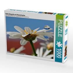 CALVENDO Puzzle Weiße Margerite mit Wassertropfen 1000 Teile Lege-Größe 64 x 48 cm Foto-Puzzle Bild von Susanne Herppich