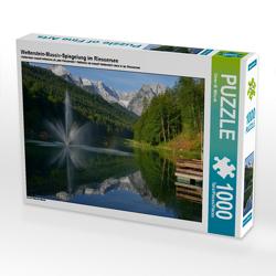 CALVENDO Puzzle Wetterstein-Massiv-Spiegelung im Riessersee 1000 Teile Lege-Größe 64 x 48 cm Foto-Puzzle Bild von Dieter-M. Wilczek