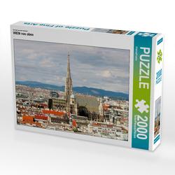CALVENDO Puzzle WIEN von oben 2000 Teile Lege-Größe 90 x 67 cm Foto-Puzzle Bild von ViennaFrame