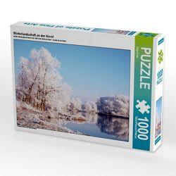 CALVENDO Puzzle Winterlandschaft an der Havel. Landschaft im Havelland. 1000 Teile Lege-Größe 64 x 48 cm Foto-Puzzle Bild von Anja Frost