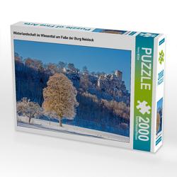 CALVENDO Puzzle Winterlandschaft im Wiesenttal am Fuße der Burg Neideck 2000 Teile Lege-Größe 90 x 67 cm Foto-Puzzle Bild von Harry Müller
