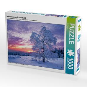 CALVENDO Puzzle Wintertraum im Schwarzwald 1000 Teile Lege-Größe 64 x 48 cm Foto-Puzzle Bild von CALVENDO