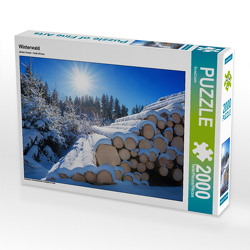 CALVENDO Puzzle Winterwald 2000 Teile Lege-Größe 90 x 67 cm Foto-Puzzle Bild von SusaZoom
