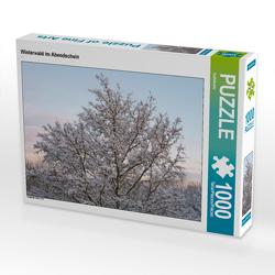 CALVENDO Puzzle Winterwald im Abendschein 1000 Teile Lege-Größe 64 x 48 cm Foto-Puzzle Bild von kattobello