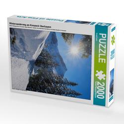 CALVENDO Puzzle Winterwanderweg am Kreuzeck Oberbayern 2000 Teile Lege-Größe 67 x 90 cm Foto-Puzzle Bild von SusaZoom
