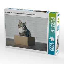 CALVENDO Puzzle Wir müssen die Bestellung behalten, ich brauche den Karton. 1000 Teile Lege-Größe 64 x 48 cm Foto-Puzzle Bild von Thorsten Nilson