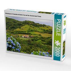 CALVENDO Puzzle Wohnhaus in Fazenda de Santa Cruz auf der Azoren-Insel Flores 2000 Teile Lege-Größe 90 x 67 cm Foto-Puzzle Bild von Jana Thiem-Eberitsch