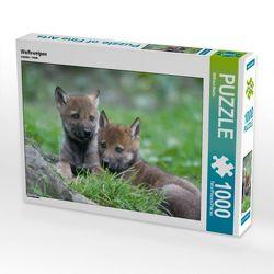 CALVENDO Puzzle Wolfswelpen 1000 Teile Lege-Größe 64 x 48 cm Foto-Puzzle Bild von Wilfried Martin