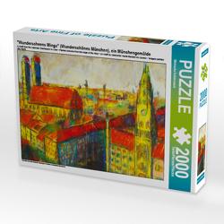 """CALVENDO Puzzle """"Wunderscheens Minga"""" (Wunderschönes München), ein Münchengemälde 2000 Teile Lege-Größe 90 x 67 cm Foto-Puzzle Bild von Michaela Schimmack"""