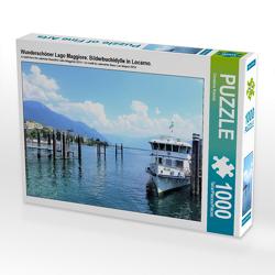 CALVENDO Puzzle Wunderschöner Lago Maggiore: Bilderbuchidylle in Locarno. 1000 Teile Lege-Größe 64 x 48 cm Foto-Puzzle Bild von Christine Konkel