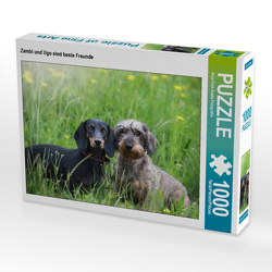 CALVENDO Puzzle Zambi und Ugo sind beste Freunde 1000 Teile Lege-Größe 64 x 48 cm Foto-Puzzle Bild von Anja Foto Grafia Fotografie