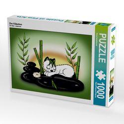 CALVENDO Puzzle Zen Kätzchen 1000 Teile Lege-Größe 64 x 48 cm Foto-Puzzle Bild von Petra Haberhauer von Haberhauer,  Petra