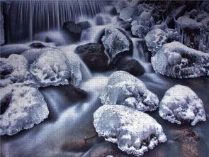 CALVENDO Puzzle Zur Blauen Stunde am Eisbach 2000 Teile Lege-Größe 90 x 67 cm Foto-Puzzle Bild von E. Ehmke ….international ausgezeichneter Fotograf…
