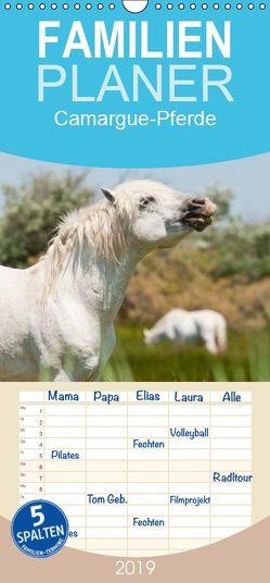 Camargue-Pferde – Südfranzösische Schimmel – Familienplaner hoch (Wandkalender 2019 , 21 cm x 45 cm, hoch) von Bölts,  Meike
