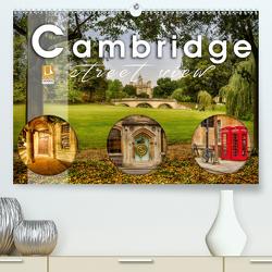 Cambridge street view (Premium, hochwertiger DIN A2 Wandkalender 2021, Kunstdruck in Hochglanz) von Schöb,  Monika
