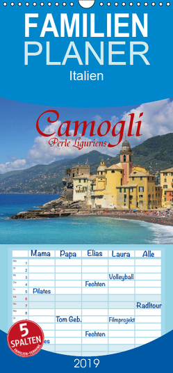 Camogli – Perle Liguriens – Familienplaner hoch (Wandkalender 2019 , 21 cm x 45 cm, hoch) von LianeM