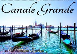 Canale Grande in leuchtenden Farben (Wandkalender 2020 DIN A2 quer) von Frank,  Rolf