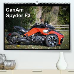CanAm Spyder F3 (Premium, hochwertiger DIN A2 Wandkalender 2021, Kunstdruck in Hochglanz) von Wolff,  Juergen
