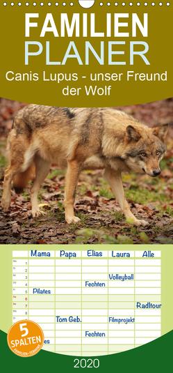 Canis Lupus – unser Freund der Wolf – Familienplaner hoch (Wandkalender 2020 , 21 cm x 45 cm, hoch) von Hollstein,  Alexandra