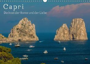 Capri – Die Insel der Sonne und der LiebeCH-Version (Wandkalender 2018 DIN A3 quer) von Pinto,  Noemi