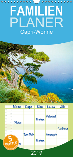 Capri-Wonne – Familienplaner hoch (Wandkalender 2019 , 21 cm x 45 cm, hoch) von CALVENDO
