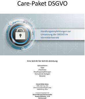 Care-Paket DSGVO für Versicherungsmakler von Müller-Delius,  Harald