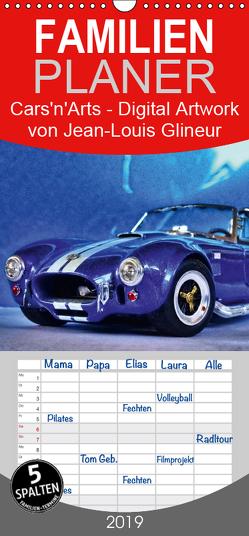 Cars'n'Arts – Digital Artwork von Jean-Louis Glineur – Familienplaner hoch (Wandkalender 2019 , 21 cm x 45 cm, hoch) von Glineur,  Jean-Louis