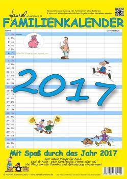 Cartoon Familienkalender 2017 von HANSEL Cartoons von Lehmann,  Hans