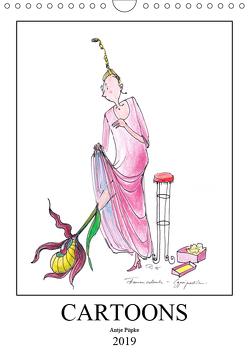 Cartoons Antje Püpke 2019 (Wandkalender 2019 DIN A4 hoch) von Püpke,  Antje