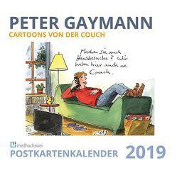 Cartoons von der Couch. Postkartenkalender 2019 von Gaymann,  Peter