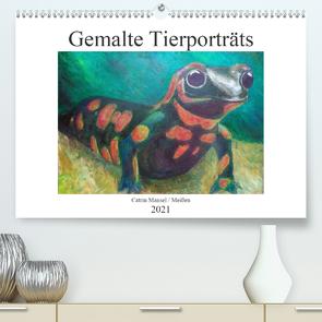 Catrin Mansel – Gemalte Tierporträts (Premium, hochwertiger DIN A2 Wandkalender 2021, Kunstdruck in Hochglanz) von Mansel,  Catrin
