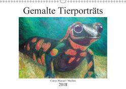 Catrin Mansel – Gemalte Tierporträts (Wandkalender 2018 DIN A3 quer) von Mansel,  Catrin