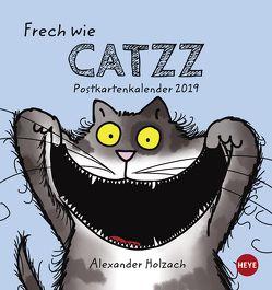 Catzz Postkartenkalender – Kalender 2019 von Heye, Holzach,  Alexander
