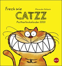 Catzz Postkartenkalender Kalender 2020 von Heye, Holzach,  Alexander