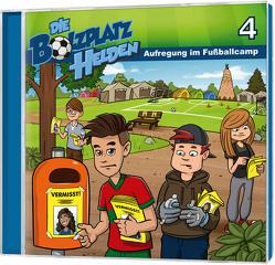 CD Aufregung im Fußballcamp – Die Bolzplatzhelden (4) von Gypser,  Florian, Gypser,  Joanna, Mörken,  Christian