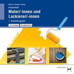 Arbeitsheft mit eingetragenen Lösungen auf CD Maler/-innen und Lackierer/-innen von Böhm,  Katharina, Campe,  Siri, Knop,  Miriam