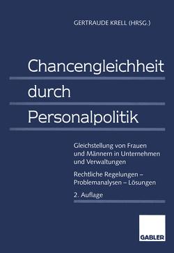 Chancengleichheit durch Personalpolitik von Krell,  Gertraude