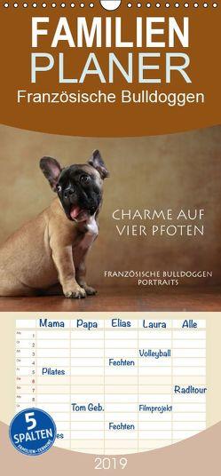 Charme auf vier Pfoten – Französische Bulldoggen Portraits – Familienplaner hoch (Wandkalender 2019 , 21 cm x 45 cm, hoch) von Behr,  Jana